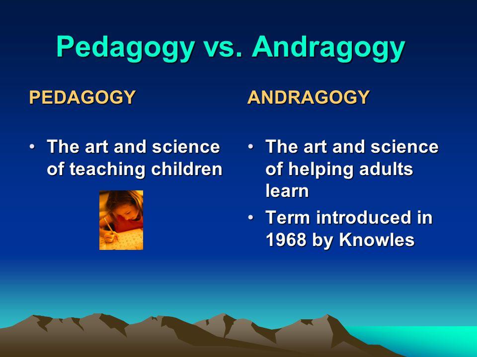 Pedagogy vs.
