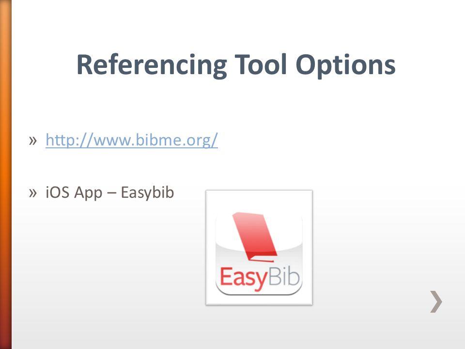 » http://www.bibme.org/ http://www.bibme.org/ » iOS App – Easybib Referencing Tool Options