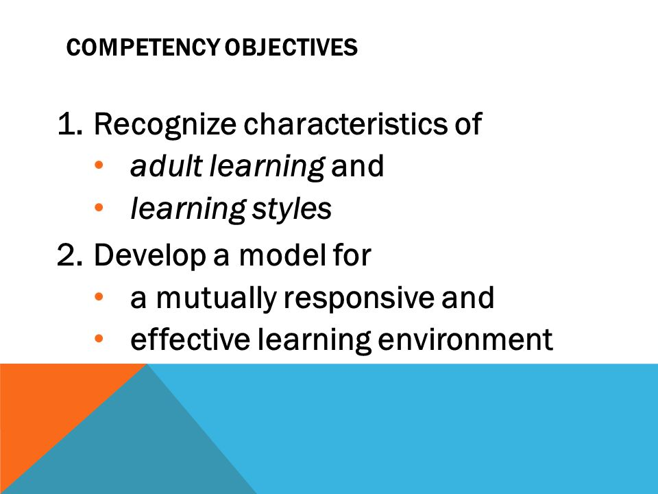 A responsive relationship between field instructor and student may enhance learning versus dominant-subordinate or superior-substandard (Miller, Jean Baker, 1976; Kohl, Herbert, 1991; Merson, Martha, 1994) Developing Your Model