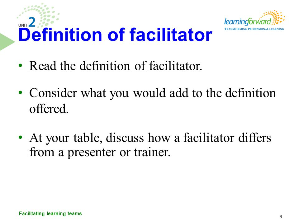 After reading the list of facilitator responsibilities, generate a list of what facilitators need to know, do, and believe to accomplish their responsibilities.