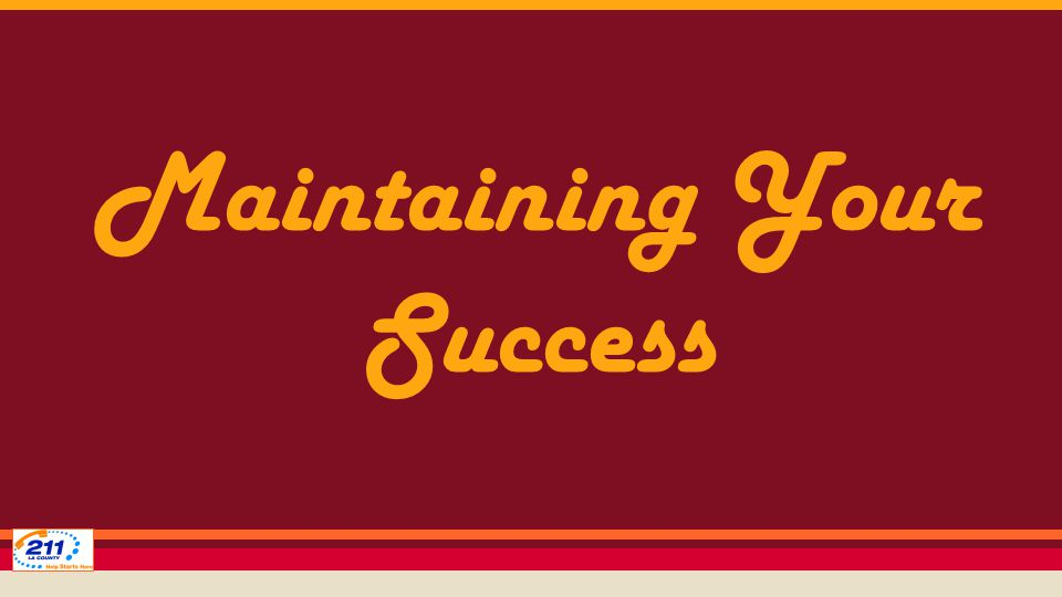 Maintaining Your Success