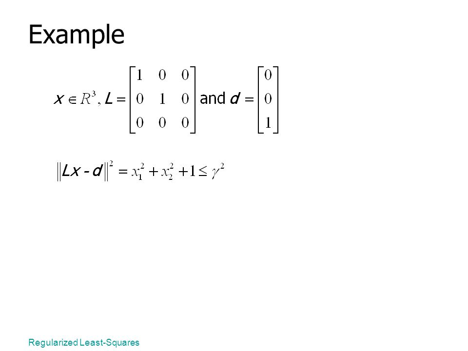 Regularized Least-Squares Example