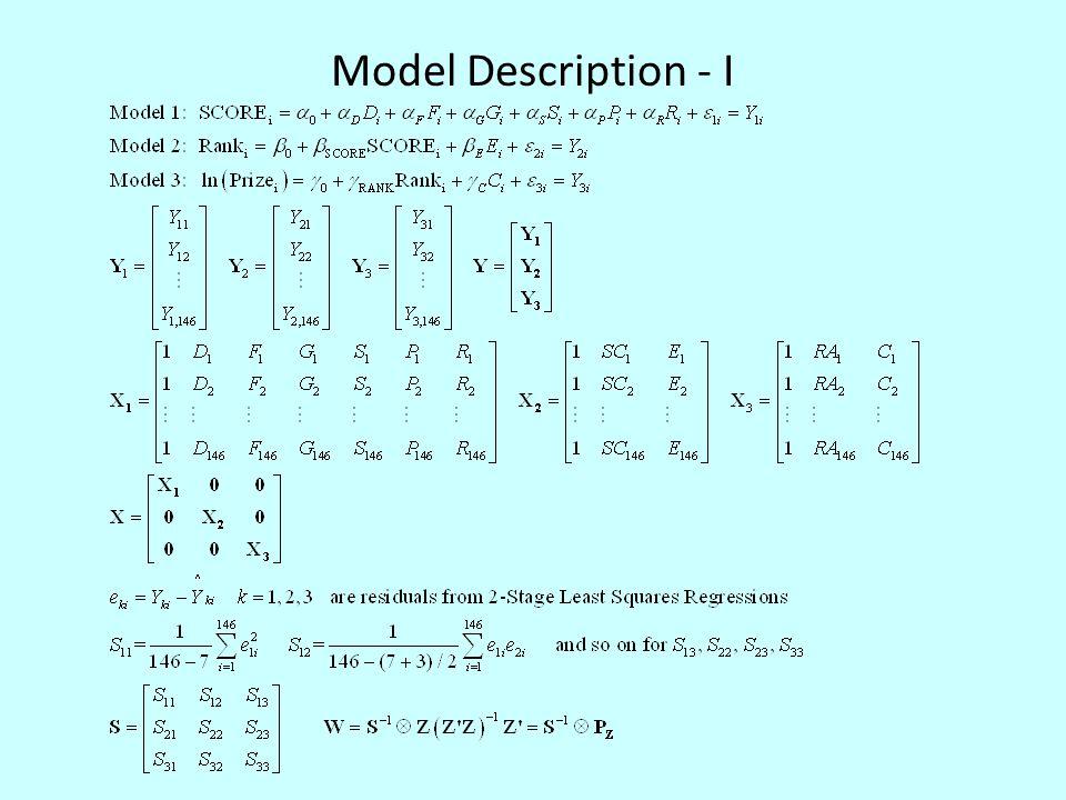 Model Description - I