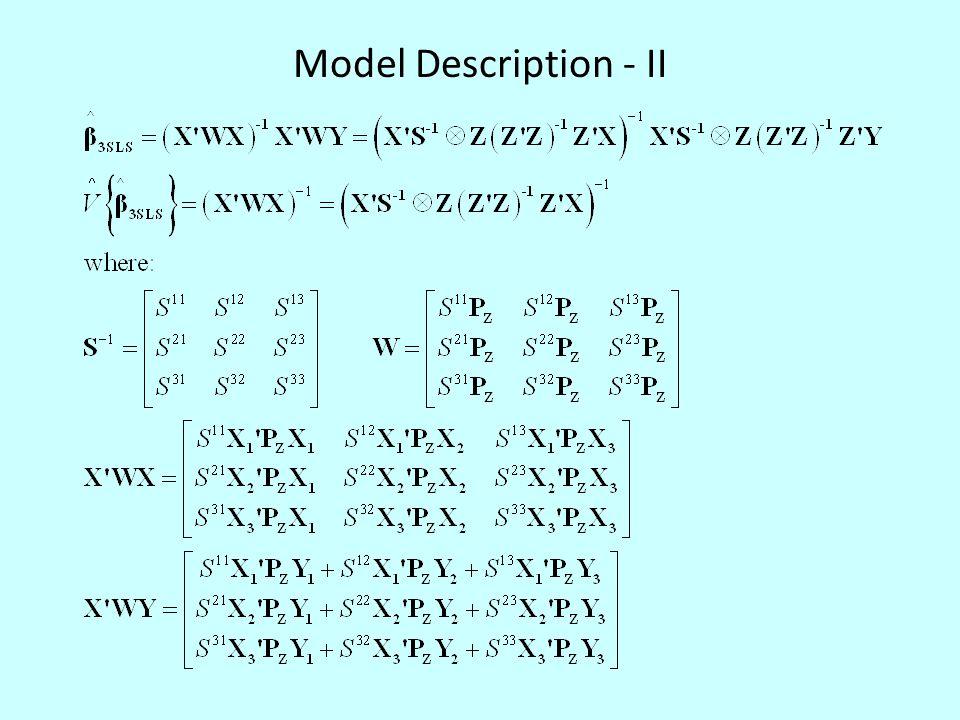 Model Description - II