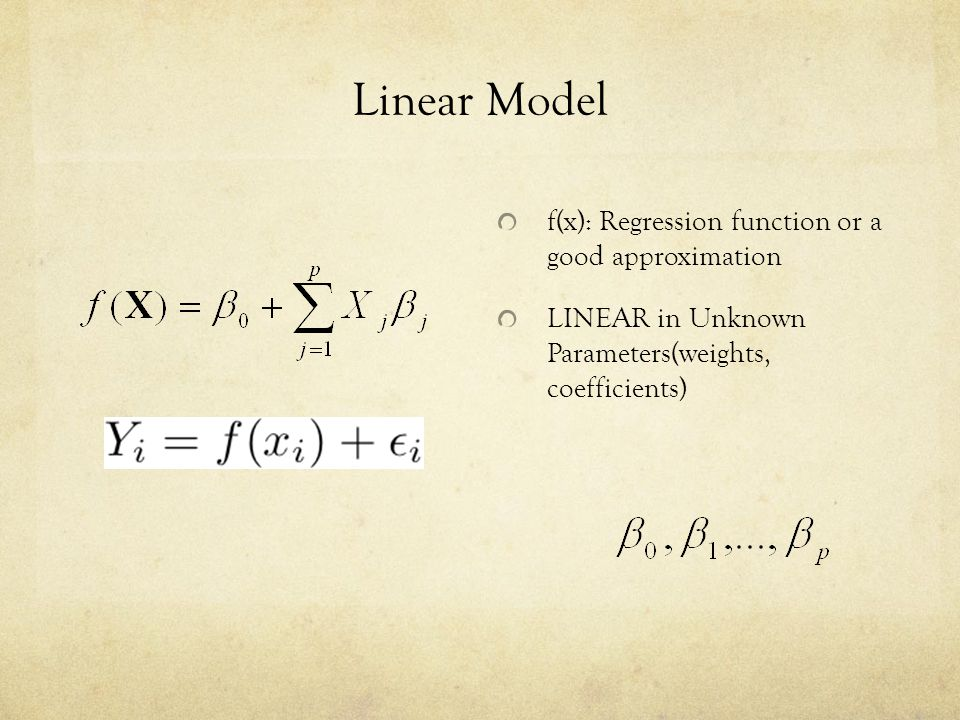 Simple Univariate Regression One Variable with no intercept LS estimate inner product = cosine (angle between vectors x and y), a measure of similarity between y and x Residuals: projection on normal space Definition: Regress b on a Simple regression of response b and input a, with no intercept Estimate Residual b adjusted for a b orthogonalized with respect to a