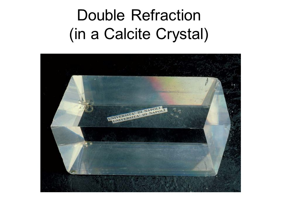 Double Refraction (in a Calcite Crystal)