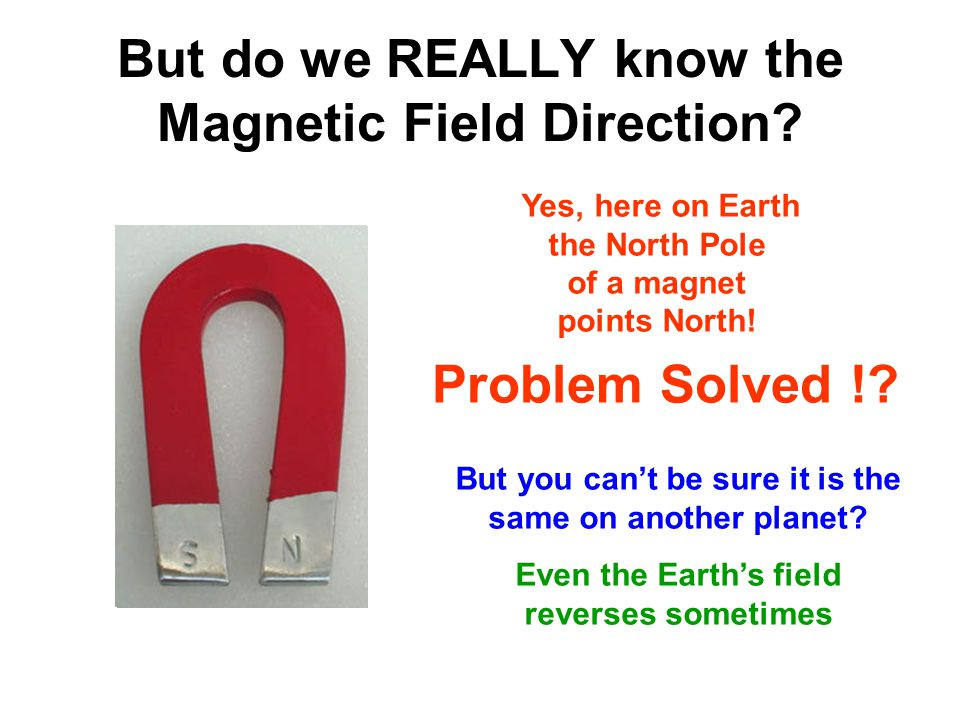 But do we REALLY know the Magnetic Field Direction? But you can't be sure it is the same on another planet? Even the Earth's field reverses sometimes