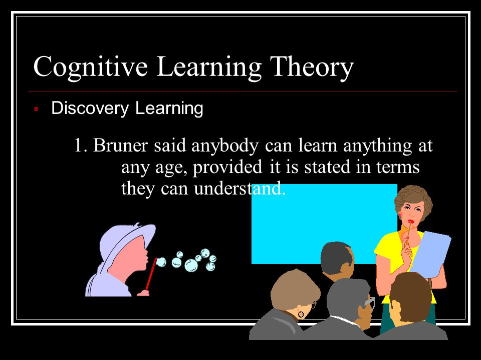 Cognitive Learning Theory  Discovery Learning - Jerome Bruner  Meaningful Verbal Learning - David Ausubel