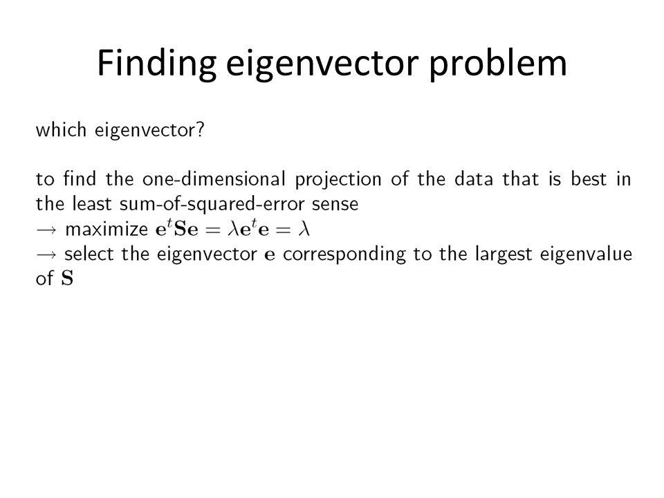 Finding eigenvector problem