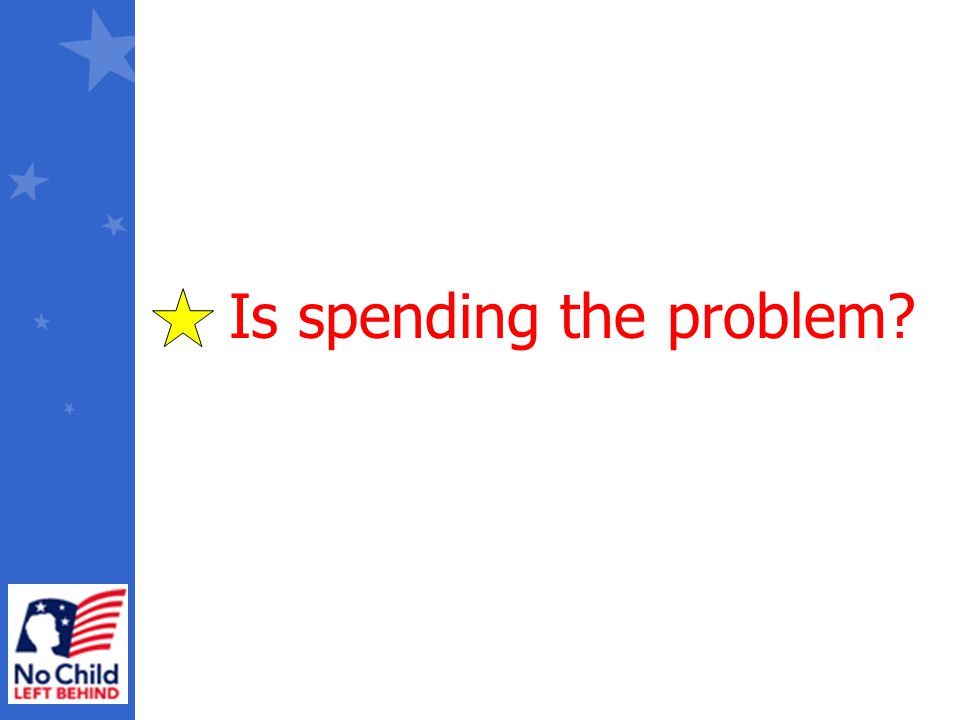 Is spending the problem?