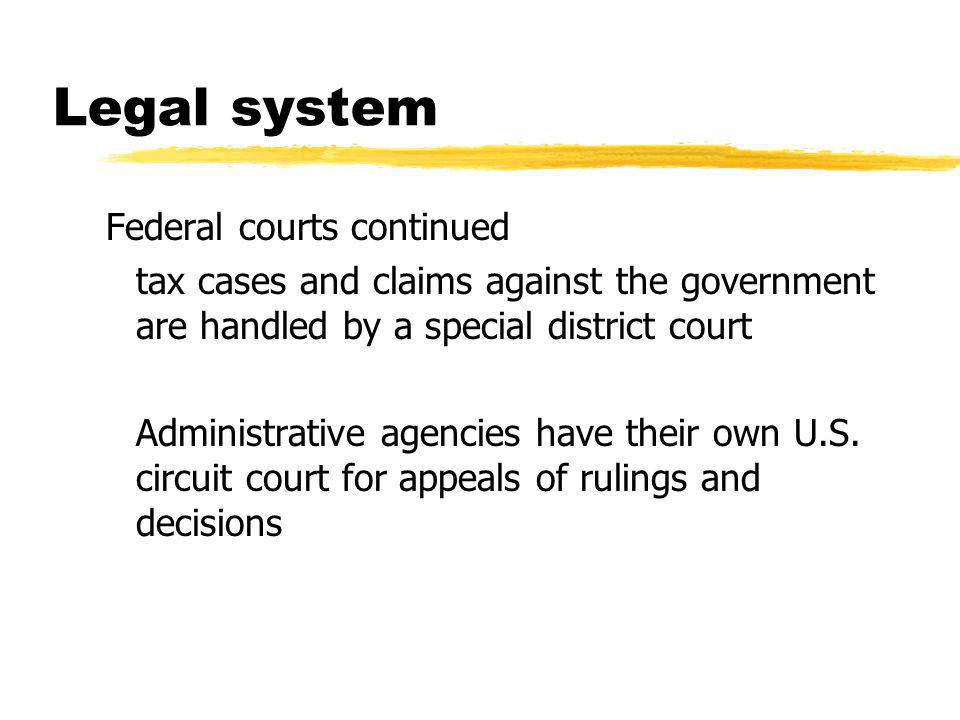 Legal system zDefinitions yJurisdiction- which court will render the decision yPlaintiff- party bringing the suit (always the government in criminal cases) yDefendant- alleged wrong doer yPleadings- facts and basis for the claim yDiscovery- interrogatories and depositions of witnesses and review of written evidence