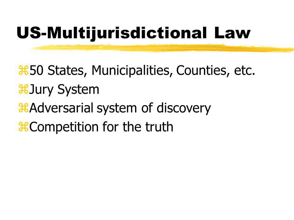 US-Multijurisdictional Law z50 States, Municipalities, Counties, etc.