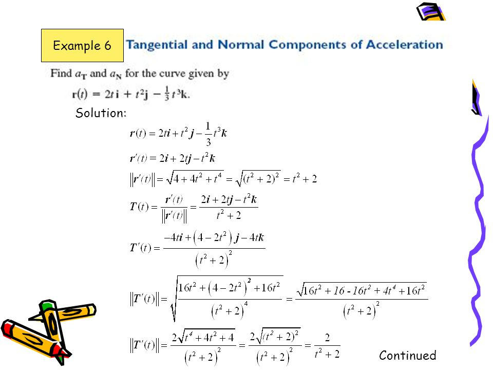Example 6 Solution: Continued