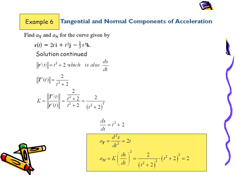 Example 6 Solution continued
