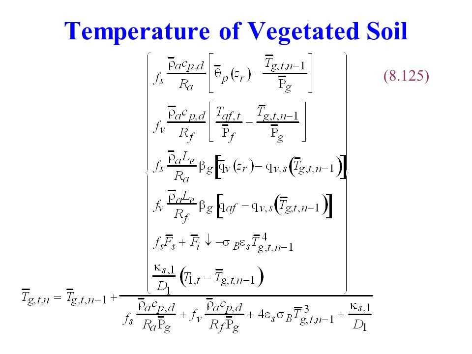 Temperature of Vegetated Soil (8.125)