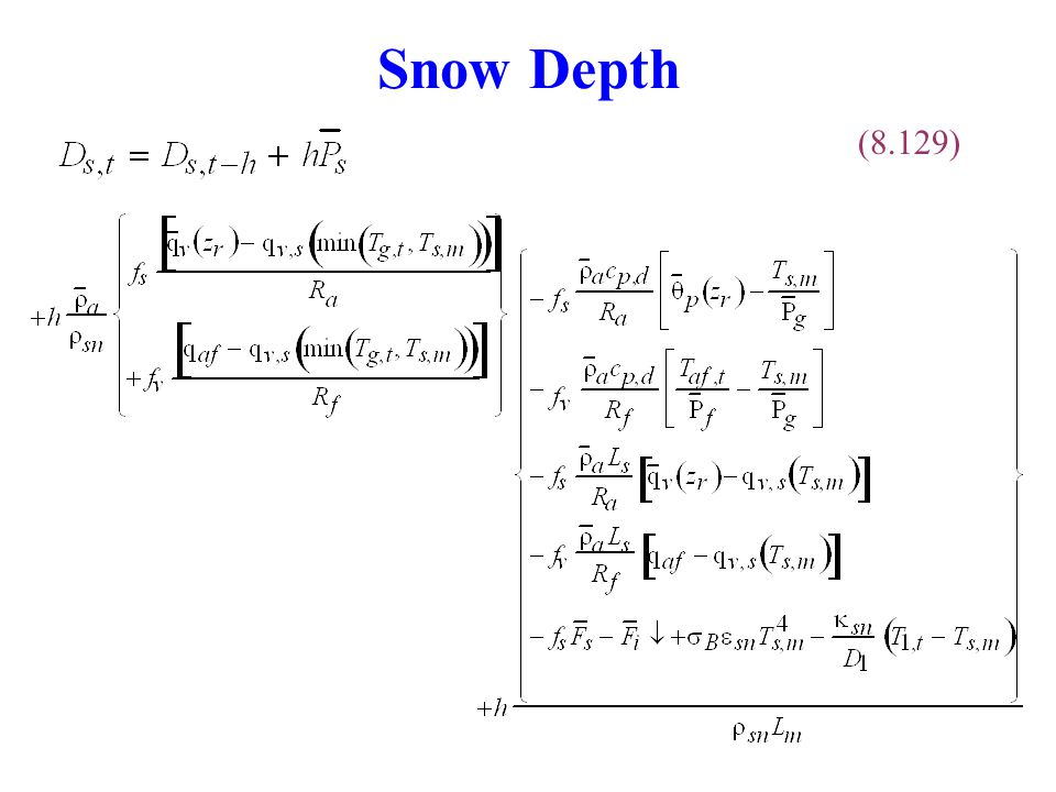 Snow Depth (8.129)