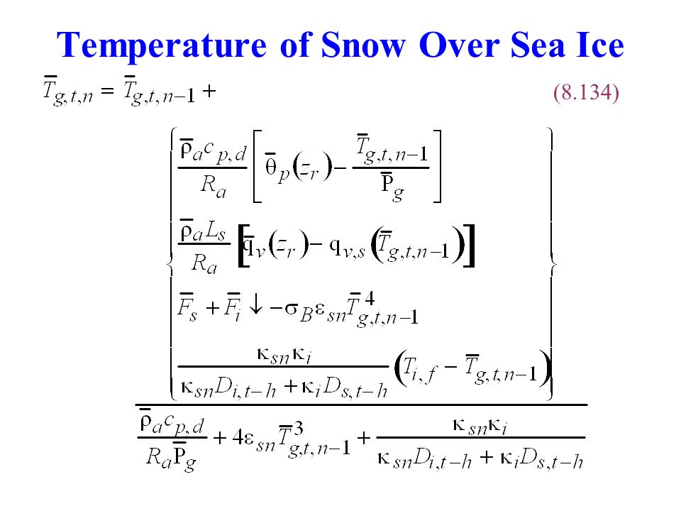 Temperature of Snow Over Sea Ice (8.134)