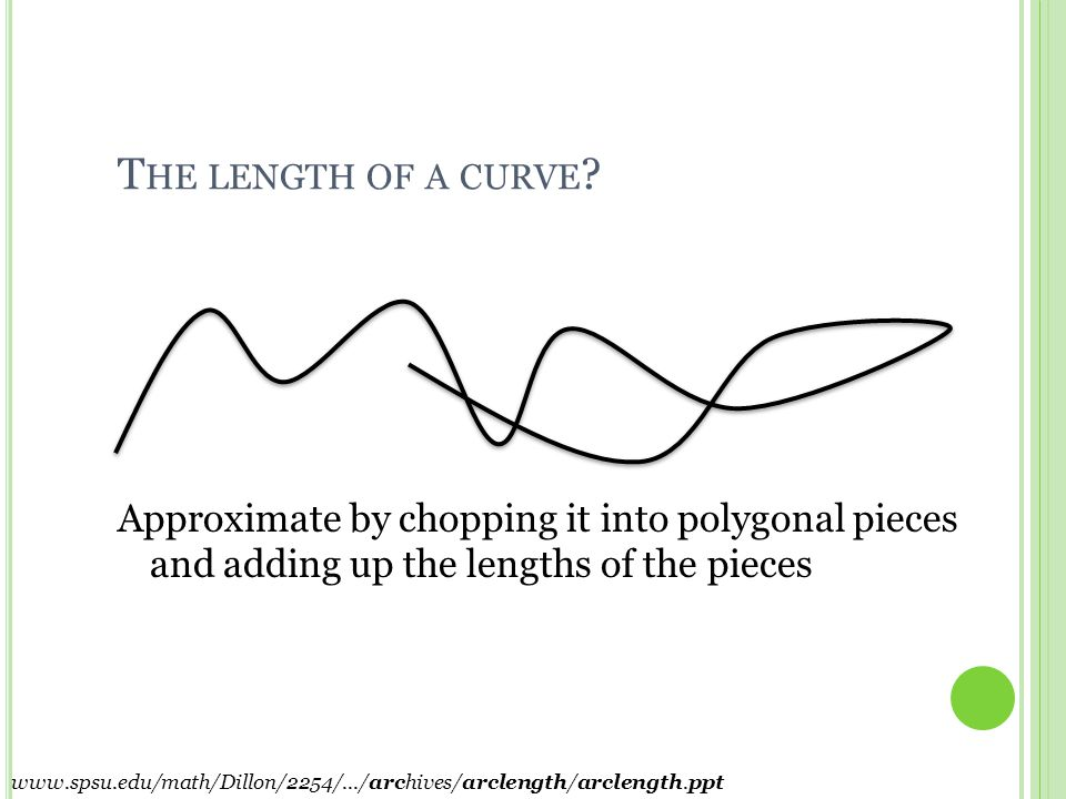 T HE L ENGTH OF A P OLYGONAL P ATH . Add the lengths of the line segments.