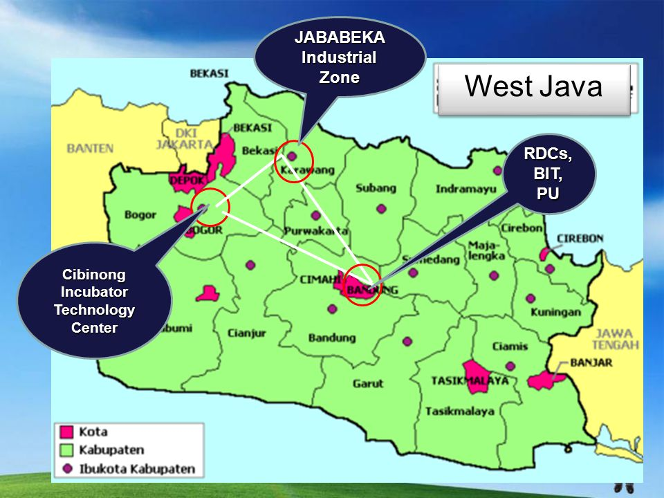 West Java JABABEKA Industrial Zone Cibinong Incubator Technology Center RDCs, BIT, PU