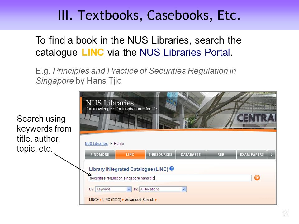 III. Textbooks, Casebooks, Etc.