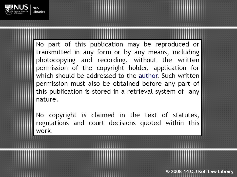 No part of this publication may be reproduced or transmitted in any form or by any means, including photocopying and recording, without the written permission of the copyright holder, application for which should be addressed to the author.