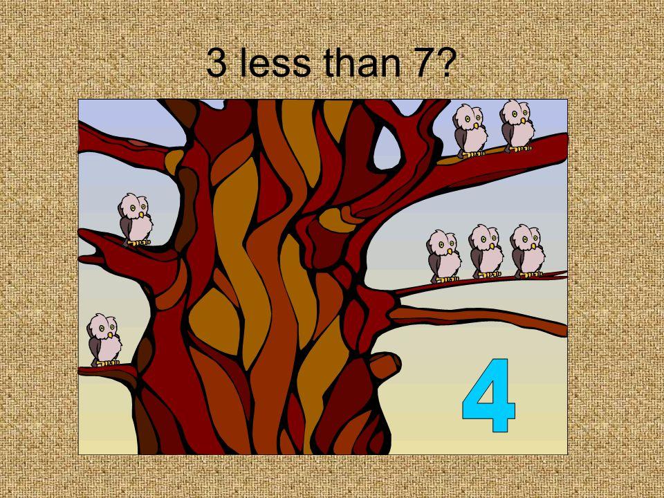 1 less than 3