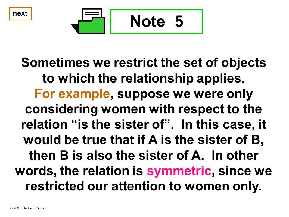 Note 5 © 2007 Herbert I.