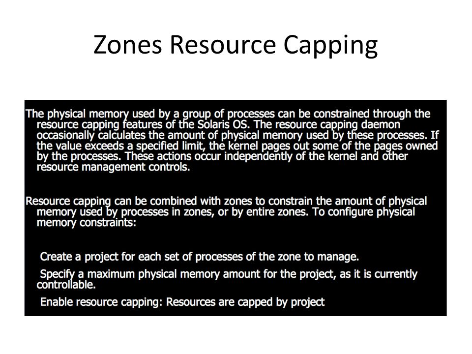 Zones Resource Capping