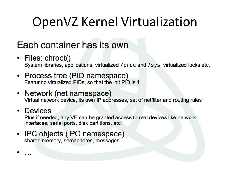 OpenVZ Kernel Virtualization