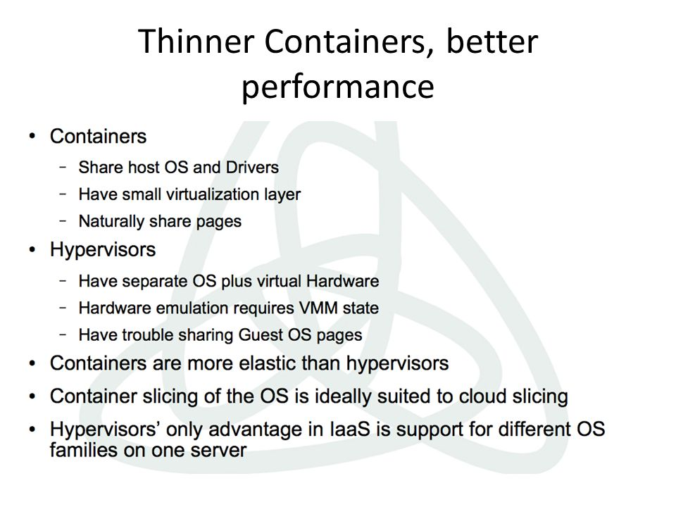 Thinner Containers, better performance