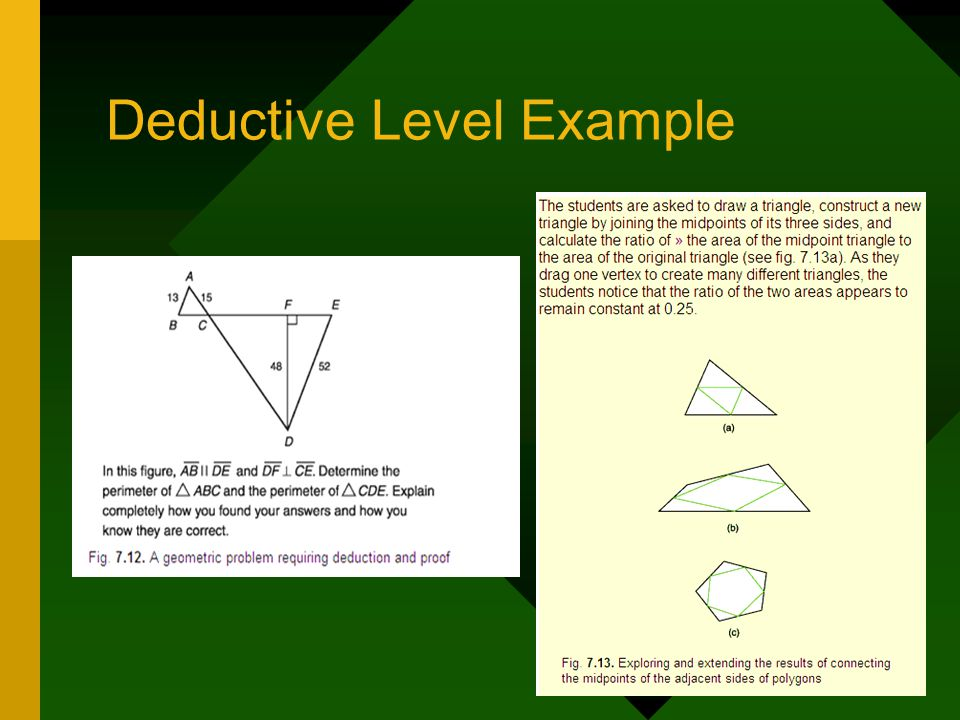 Deductive Level Example