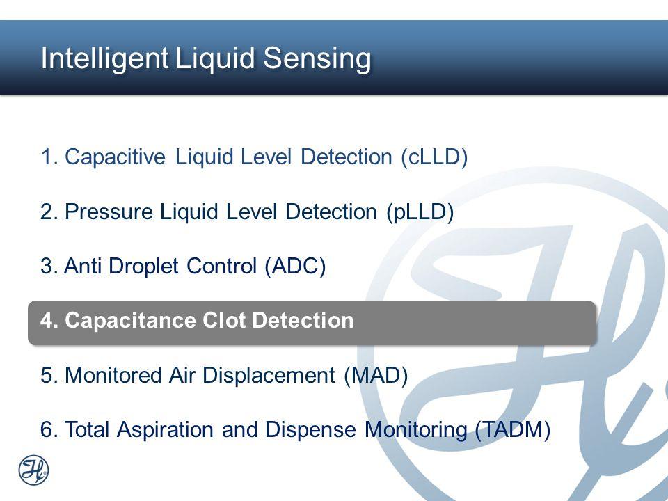18 Intelligent Liquid Sensing 1. Capacitive Liquid Level Detection (cLLD) 2. Pressure Liquid Level Detection (pLLD) 3. Anti Droplet Control (ADC) 4. C