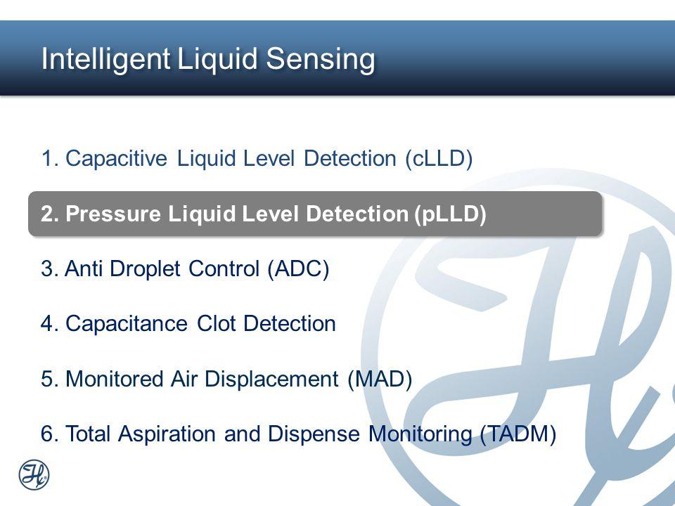 6 Intelligent Liquid Sensing 1. Capacitive Liquid Level Detection (cLLD) 2. Pressure Liquid Level Detection (pLLD) 3. Anti Droplet Control (ADC) 4. Ca