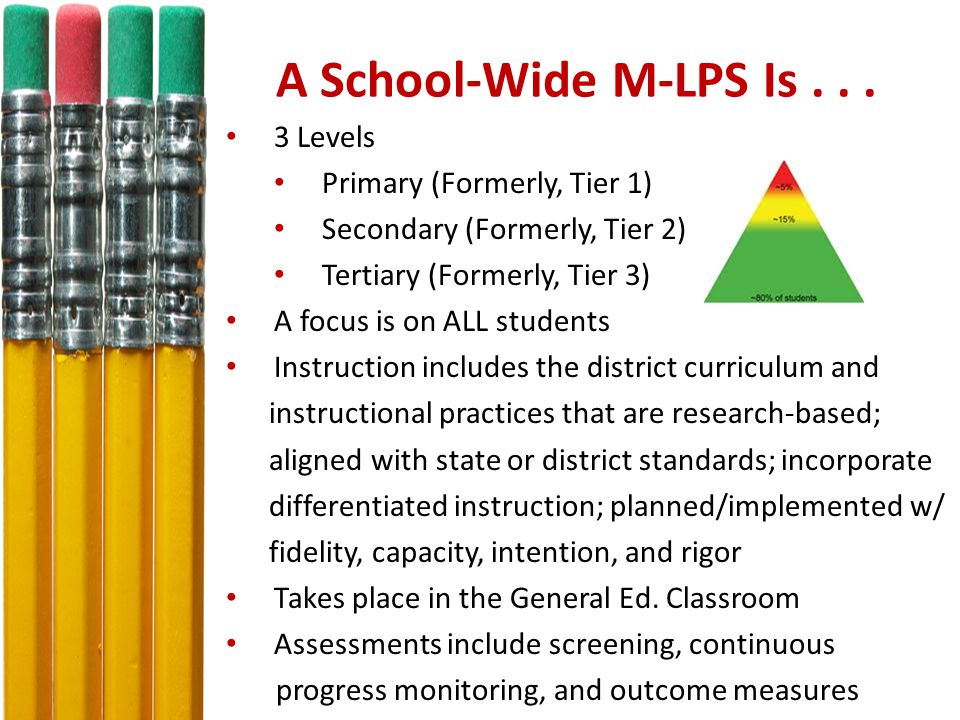 A School-Wide M-LPS Is...