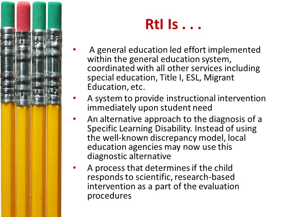 RtI Is Not...