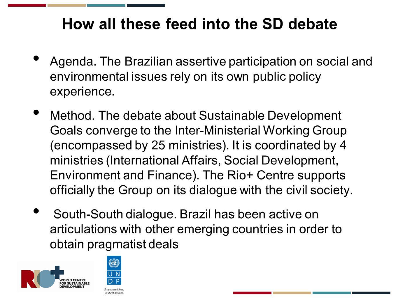 RIO+ research on Brazilian discourses on the post- 2015 agenda at the UN fora.