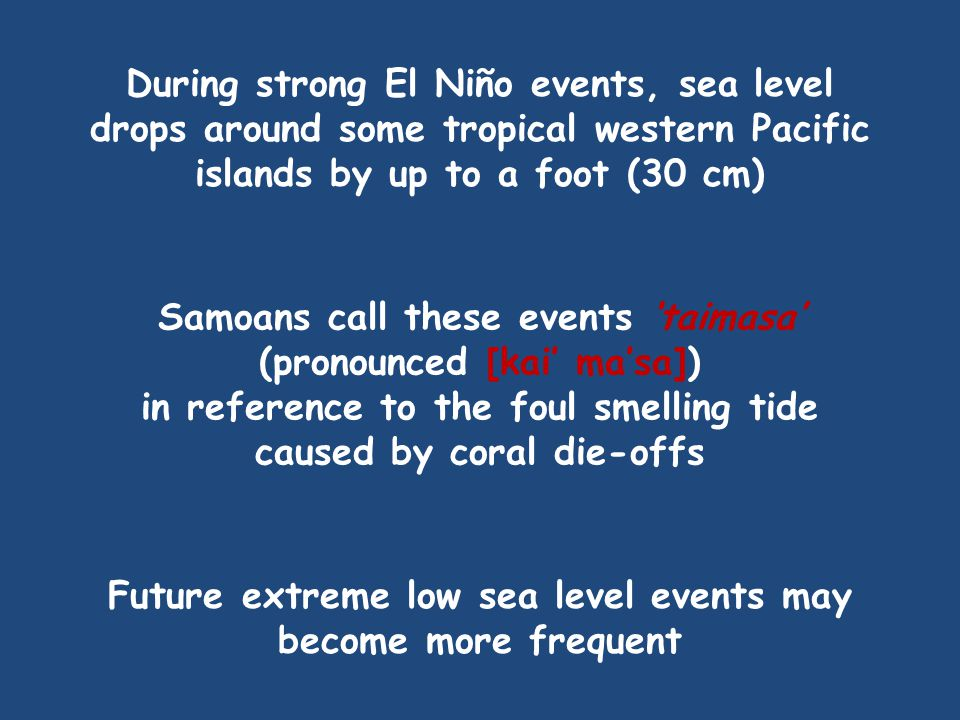 Sea levels remain depressed south of 5°N; i.e., the meridional seesaw.