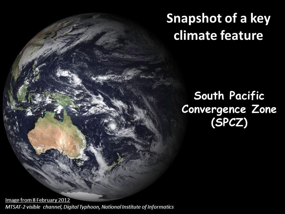 (mm day -1 ) 28°C 26°C Observed rainfall and SST climatology during DJF Meridional SST gradient & zonal SPCZ events = [Box 1 SST – Box 2 SST] Box 1 Box 2 1997/98 El Niño ~ GPCP rainfall ~ NOAA SST