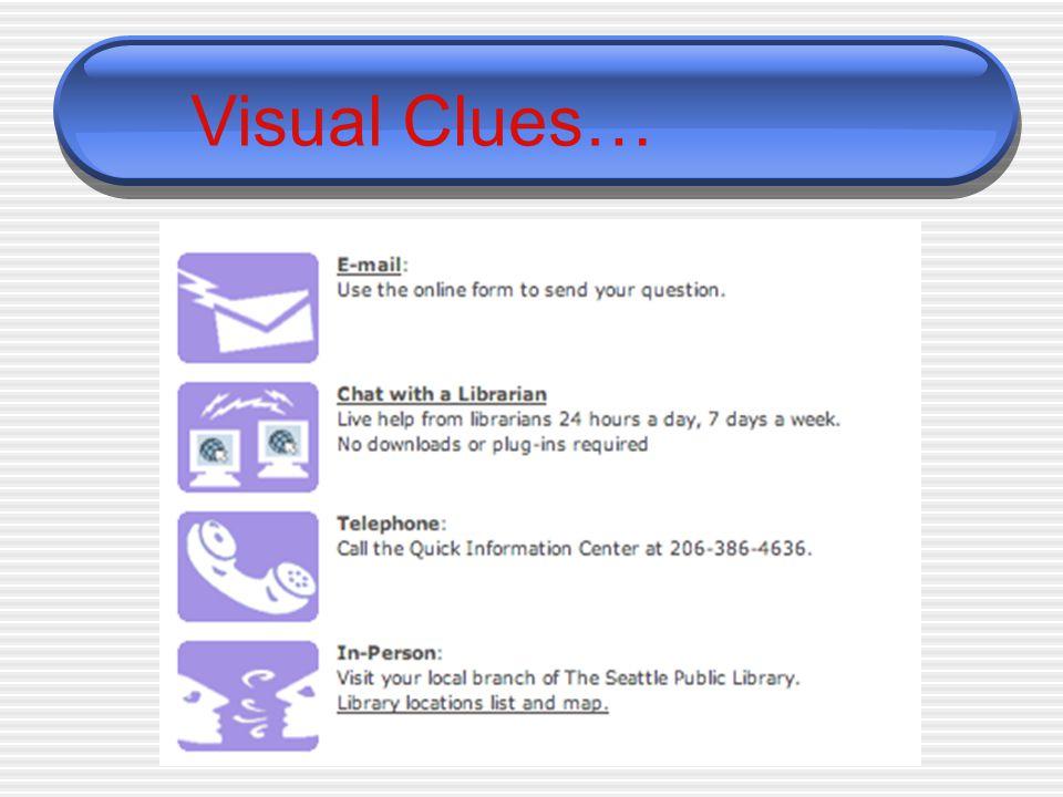 Visual Clues…
