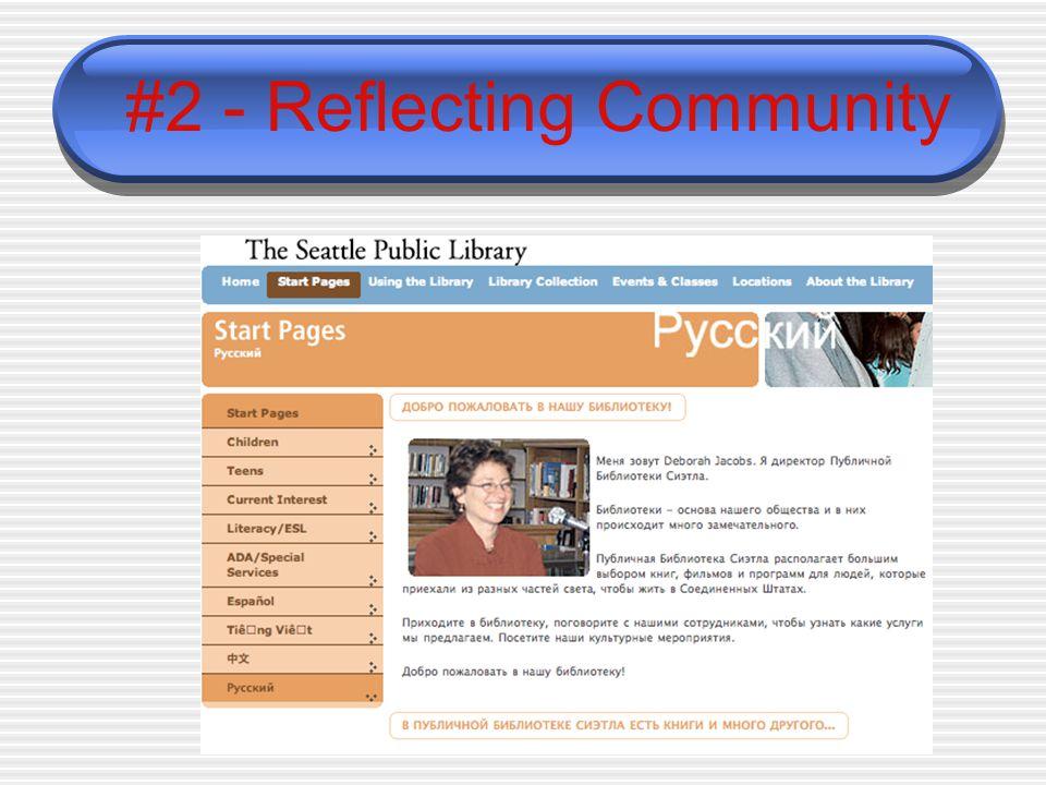 #2 - Reflecting Community