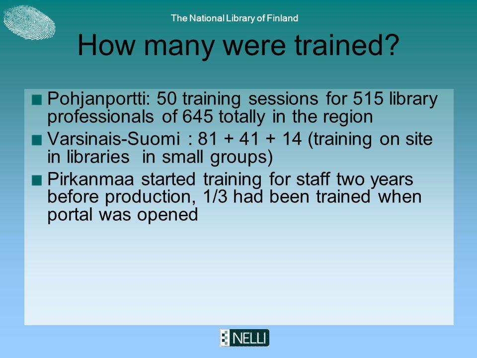 The National Library of Finland How many were trained.