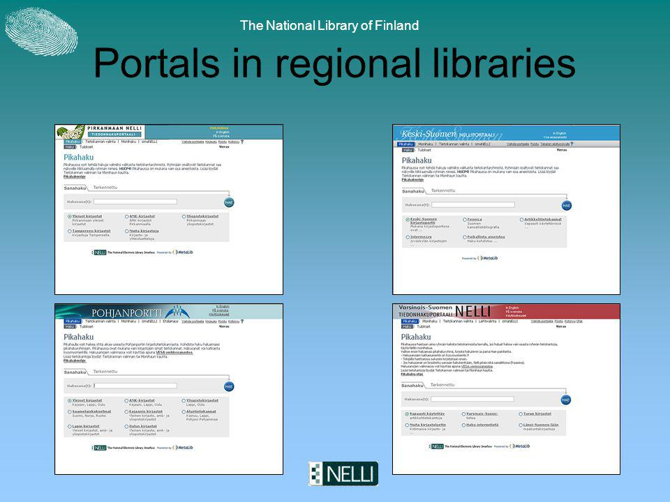The National Library of Finland Portals in regional libraries