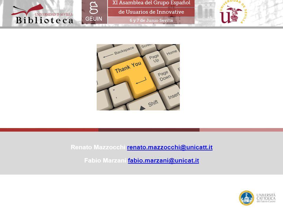 Renato Mazzocchi renato.mazzocchi@unicatt.itrenato.mazzocchi@unicatt.it Fabio Marzani fabio.marzani@unicat.itfabio.marzani@unicat.it