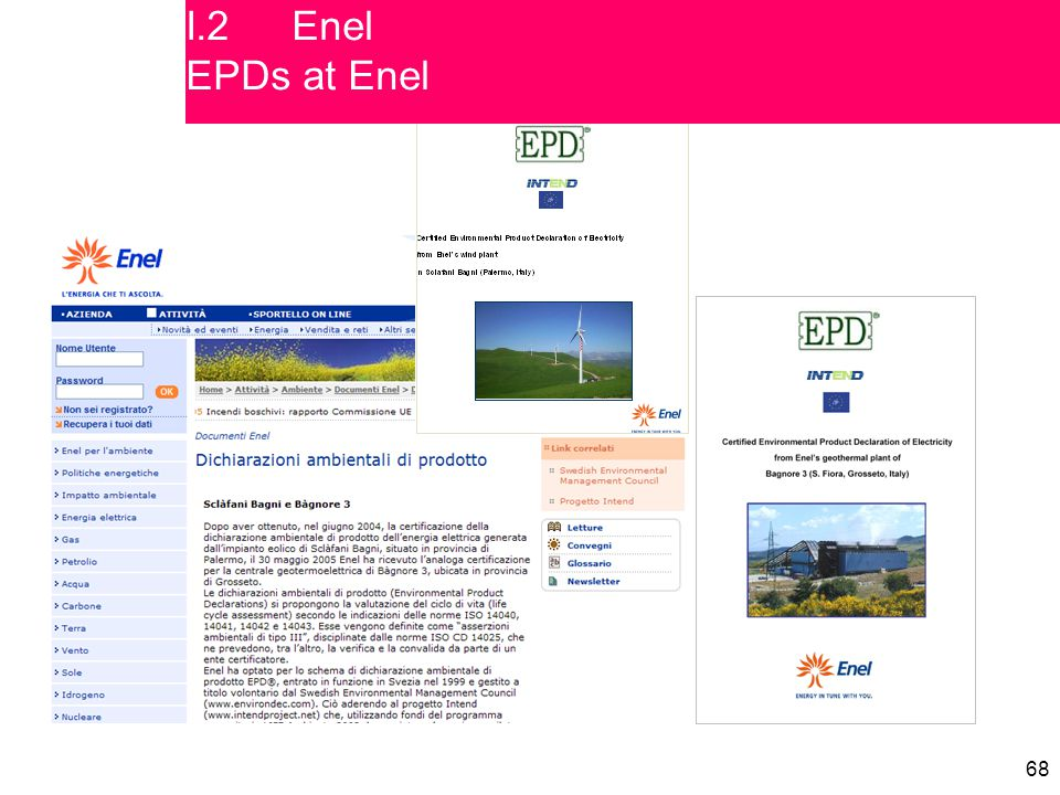 68 I.2Enel EPDs at Enel