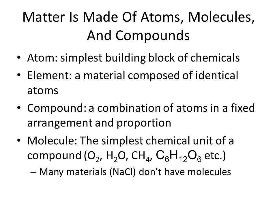 Chemical Formulas Most Elements have symbols that are common sense: H (Hydrogen), Si (Silicon), etc.