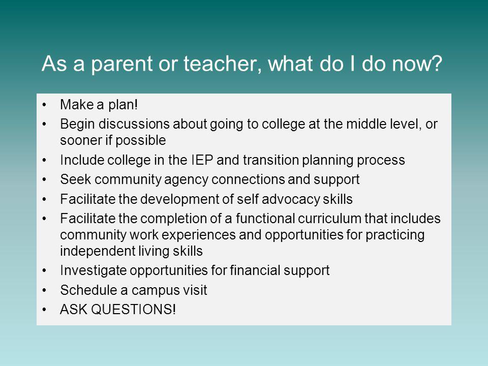 As a parent or teacher, what do I do now. Make a plan.