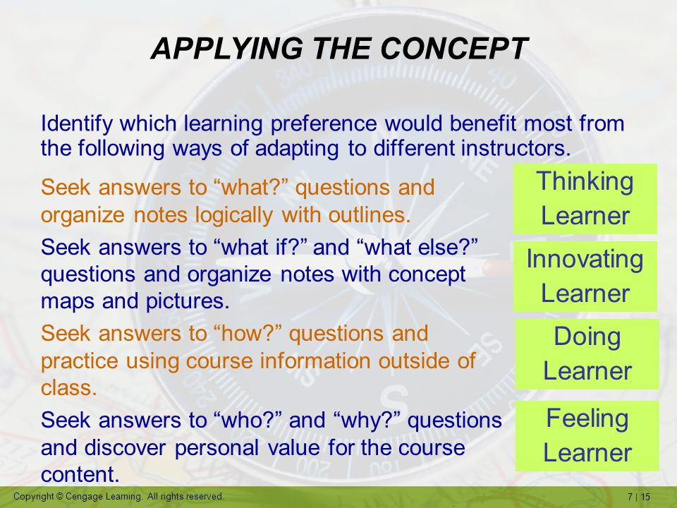 """7   15 Copyright © Cengage Learning. All rights reserved. Seek answers to """"what?"""" questions and organize notes logically with outlines. Seek answers t"""