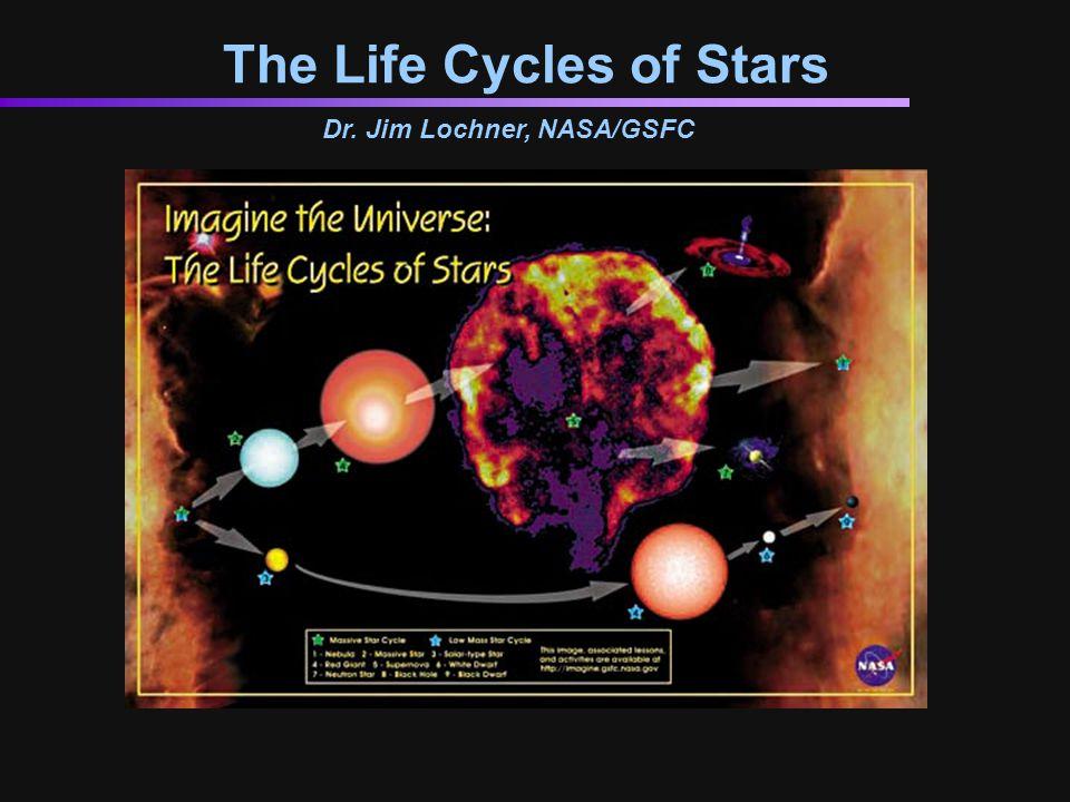 The Life Cycles of Stars Dr. Jim Lochner, NASA/GSFC
