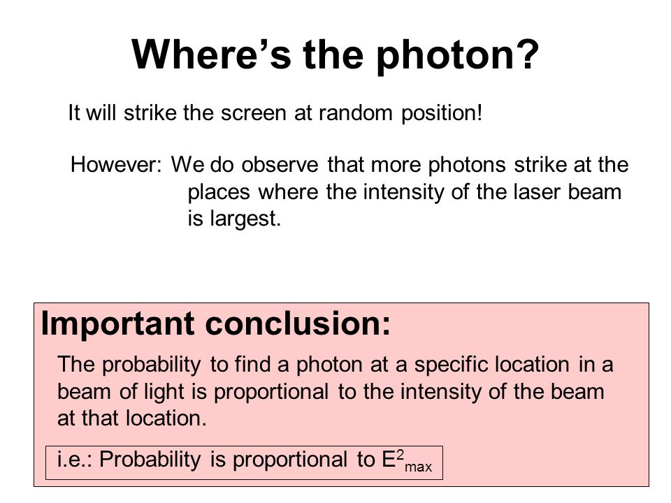 Probability and randomness Photon is 3-D-spread-out-little-chunk of an EM wave.