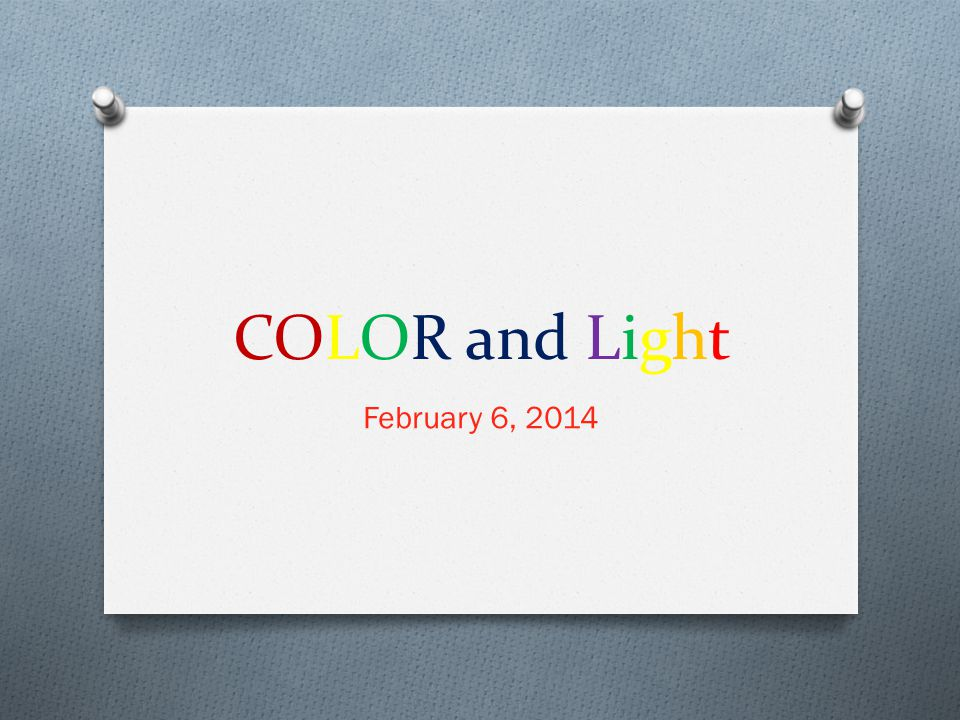 How does light interact with matter.O Light can interact 3 ways: O 1.
